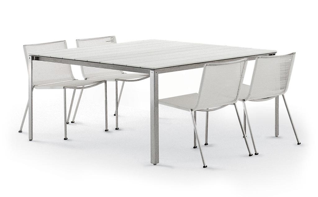Tavoli e tavolini da esterno coro imola marocchi design for Tavoli da esterno design