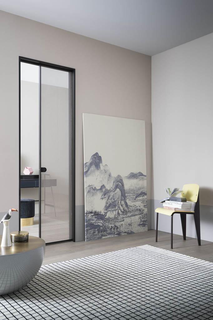 Porte Scorrevoli Vetro 3 Ante.Porte Scorrevoli Imola In Vetro Alluminio Legno Marocchi Design