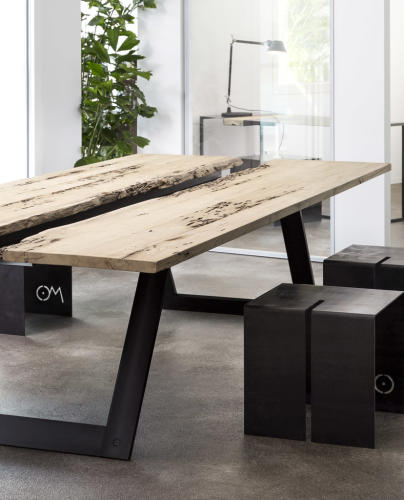tavolino linea teredo - om officinae imola - marocchi design